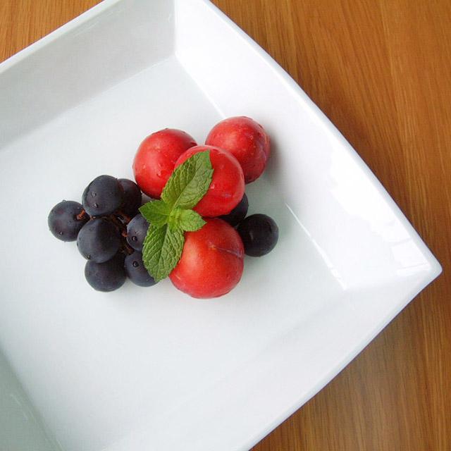陶房青 白磁角盛鉢